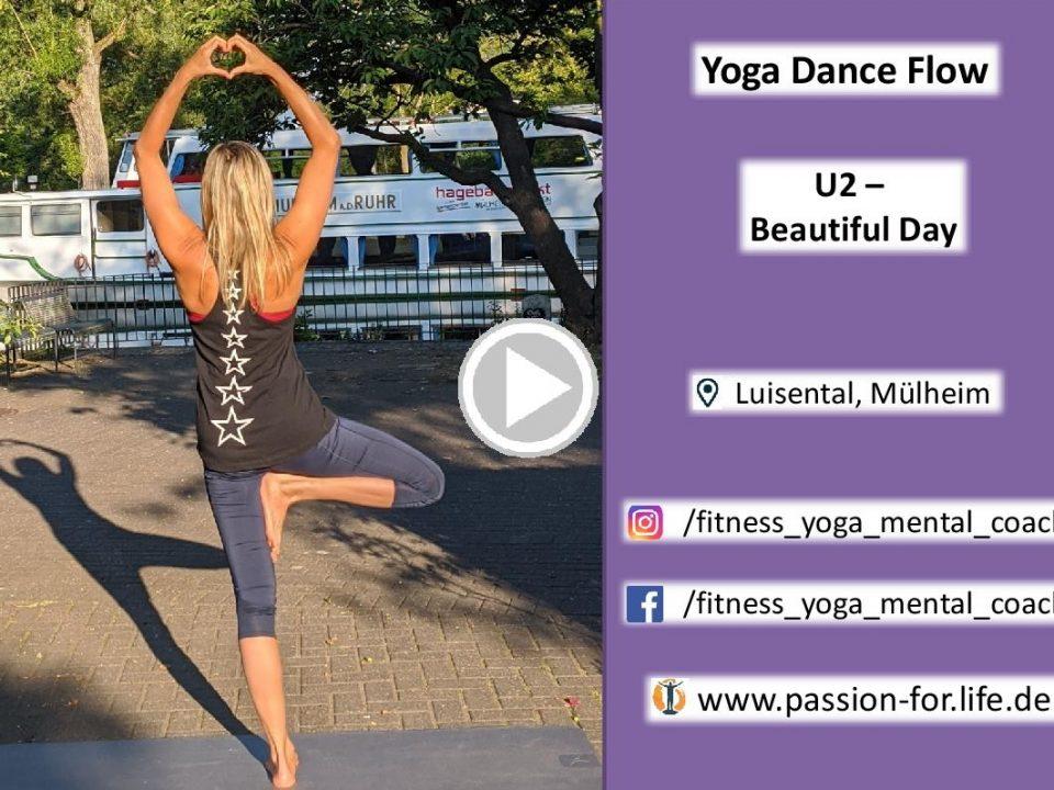 Link zur Yoga Dance Choreo von U2 Beautiful Day